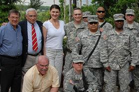 Project team enjoying partnership with U.S. troops supporting the democratization of Kosovo